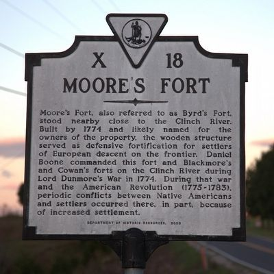 Moore's Fort Marker image. Click for full size.