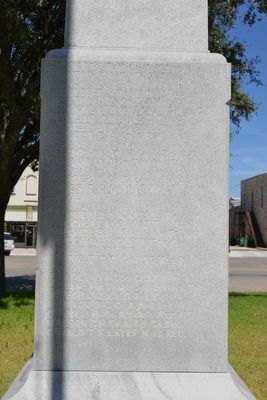 Rear (South) Face of Memorial image. Click for full size.