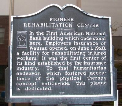 Pioneer Rehabilitation Center Marker image. Click for full size.
