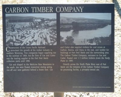 Carbon Timber Company Marker image. Click for full size.
