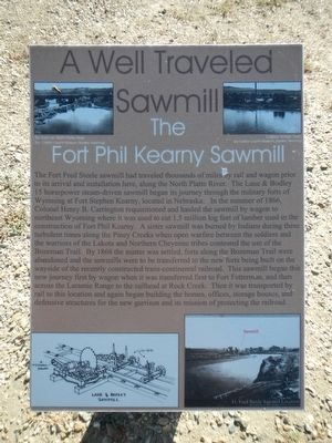 A Well Traveled Sawmill Marker image. Click for full size.