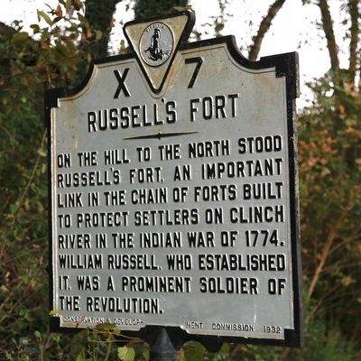 Russell's Fort Marker image. Click for full size.