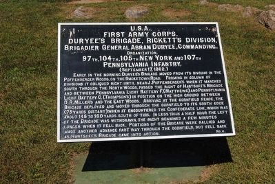 First Army Corps Marker image. Click for full size.