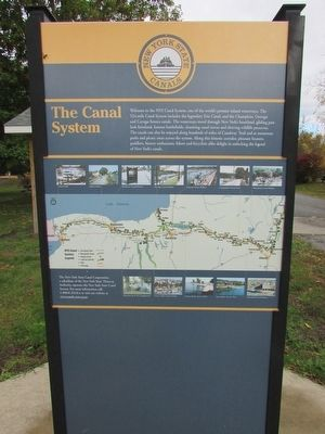 The Canal System Marker image. Click for full size.