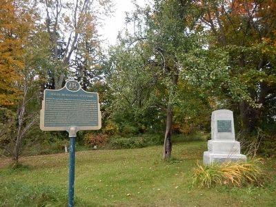 John McIntosh Marker (with older marker) image. Click for full size.