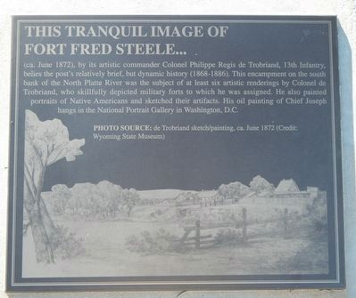 Image of Fort Fred Steele Marker image. Click for full size.