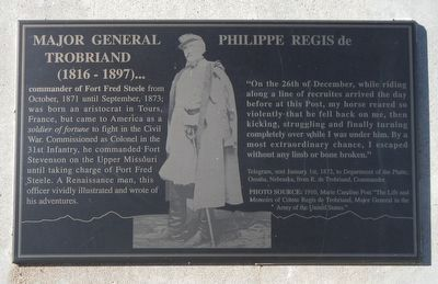 Major General Philippe Regis de Trobriand Marker image. Click for full size.