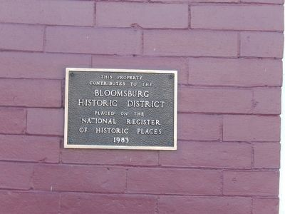 Bloomsburg Historic District Marker image. Click for full size.