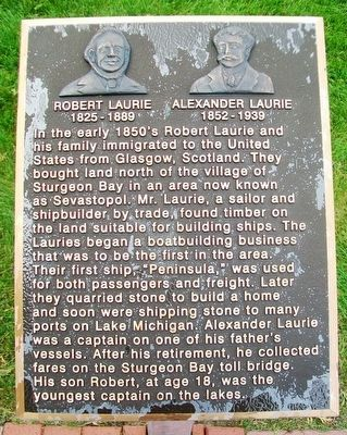 Robert Laurie and Alexander Laurie Marker image. Click for full size.