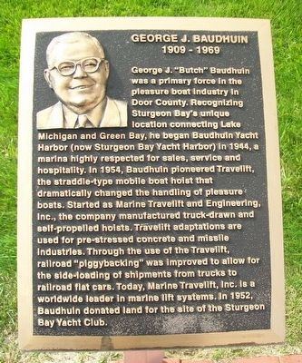 George J. Baudhuin Marker image. Click for full size.