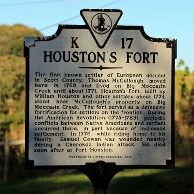 Houston's Fort Marker image. Click for full size.
