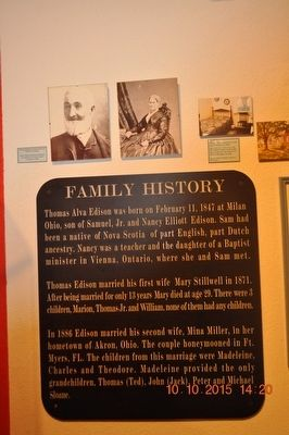 Thomas Alva Edison Family History image. Click for full size.