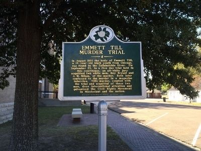 View of marker looking south on West Court Street. image. Click for full size.