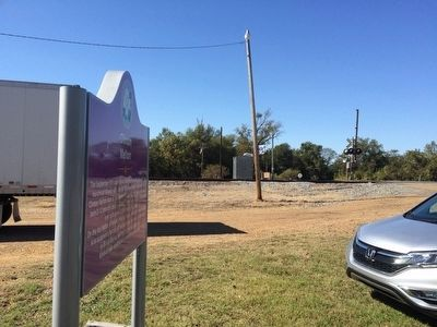 View of marker looking west towards Black Bayou Road. image. Click for full size.