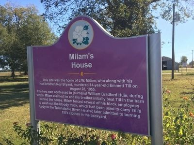 Milam's House Marker image. Click for full size.