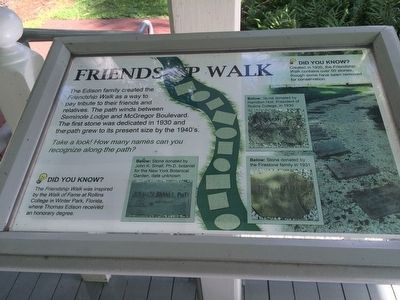 Friendship Walk Marker image. Click for full size.