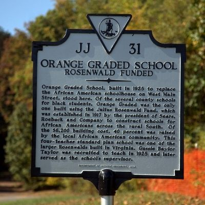Orange Graded School Marker image. Click for full size.