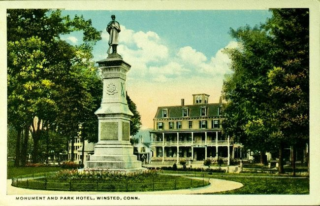 <i>Monument and Park Hotel, Winsted, Conn.</i> image. Click for full size.