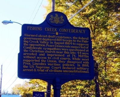 Fishing Creek Confederacy Marker image. Click for full size.