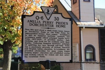 Amelia Perry Pride's Dorchester Home Marker image. Click for full size.