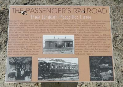 The Passenger's Railroad Marker image. Click for full size.