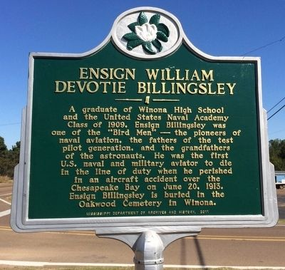 Ensign William Devotie Billingsley Marker image. Click for full size.