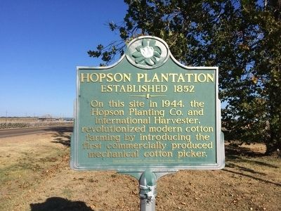 Hopson Plantation Marker image. Click for full size.