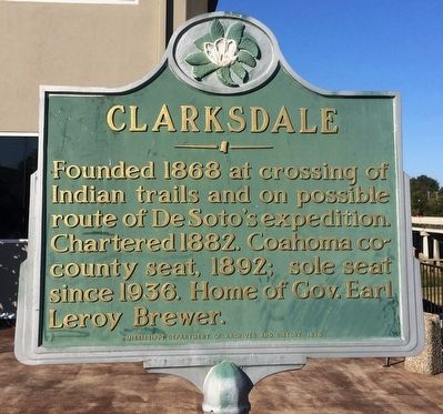 Clarksdale Marker image. Click for full size.