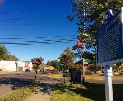 View of marker looking north on Delta Avenue. image. Click for full size.