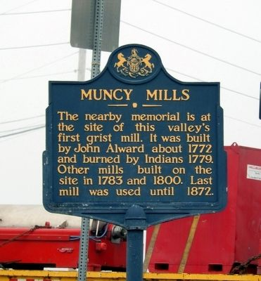 Muncy Mills Marker image. Click for full size.