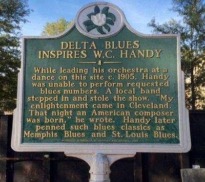 Delta Blues Inspires W.C. Handy Marker image. Click for full size.