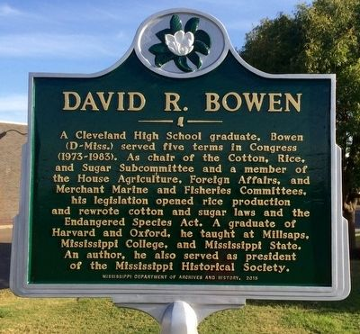 David R. Bowen Marker image. Click for full size.