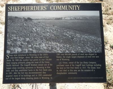 Sheepherder's Community Marker image. Click for full size.
