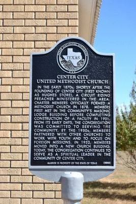 Center City United Methodist Church Marker image. Click for full size.