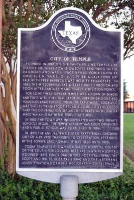 City of Temple Marker image. Click for full size.