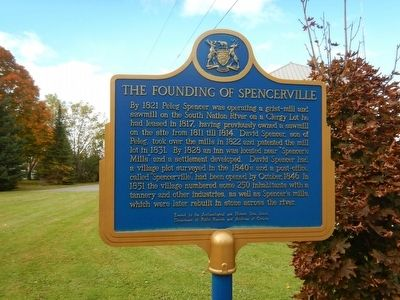 The Founding of Spencerville Marker image. Click for full size.