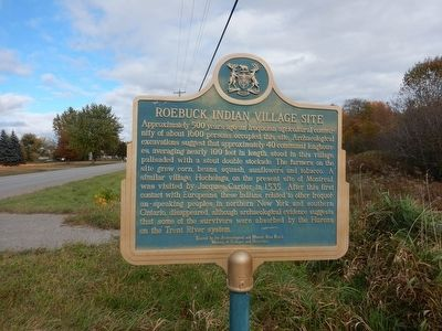 Roebuck Indian Village Site Marker image. Click for full size.