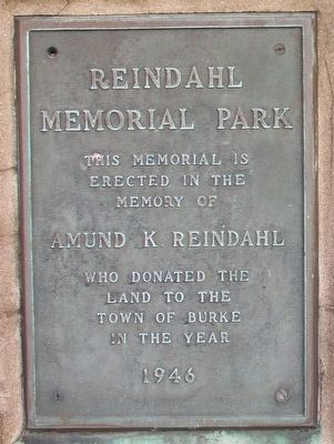 Reindahl Memorial Park Marker image. Click for full size.