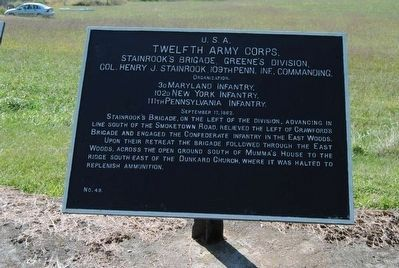 Twelfth Army Corps Marker image. Click for full size.