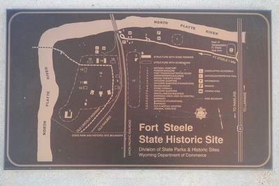 Fort Fred Steele site map image. Click for full size.