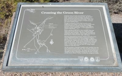 Crossing the Green River Marker image. Click for full size.