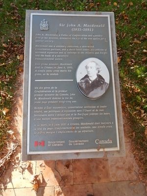 Sir John A. Macdonald Marker image. Click for full size.