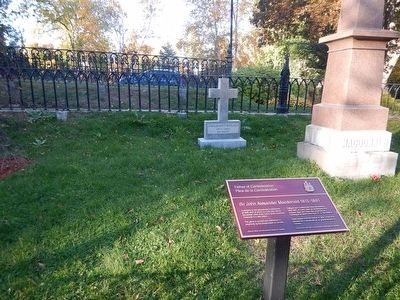 Sir John A. Macdonald tombstone and Marker image. Click for full size.