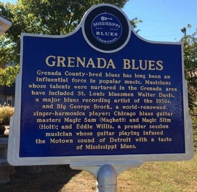 Grenada Blues Marker (Front) image. Click for full size.