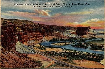 Palisades, Lincoln Highway (U.S. 30) at Green River, Wyoming image. Click for full size.