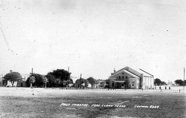 Fort Clark Post Theater image. Click for full size.