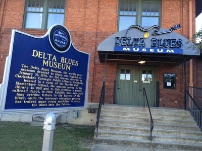 Delta Blues Museum (Former train depot) image. Click for full size.
