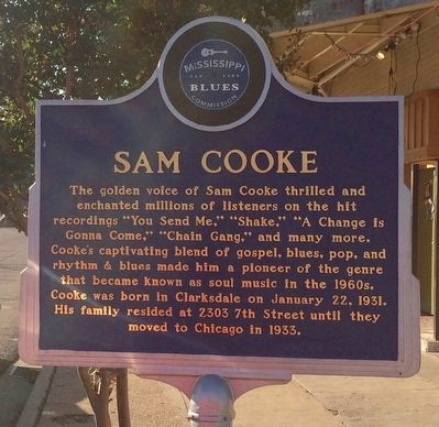 Sam Cooke Marker (Front) image. Click for full size.