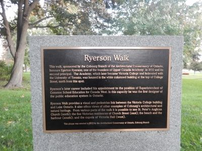 Ryerson Walk Marker image. Click for full size.