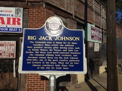 Big Jack Johnson Marker (Front) image. Click for full size.